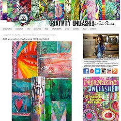 ART journaling goodness & FREE digital kit - creativityUNLEASHED by traci bautista