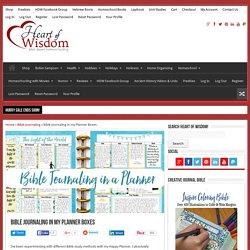 Bible Journaling in my Planner Boxes - Heart of Wisdom Homeschool Blog
