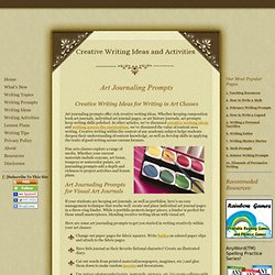 Art Journaling Prompts: Creative Writing Ideas for Writing in Art Classes