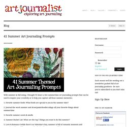 41 Summer Art Journaling Prompts - Art Journalist