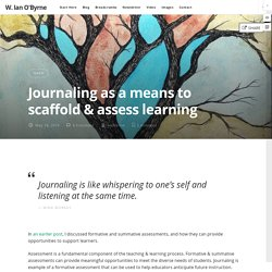 Journaling as a means to scaffold & assess learning
