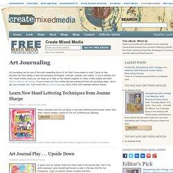 Art Journal Ideas, Tutorials & Art Journaling Techniques