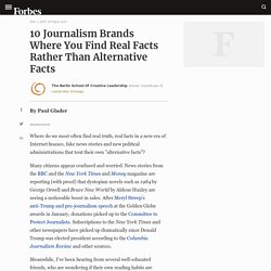 10 Journalism Brands Where You Find Real Facts Rather Than Alternative Facts