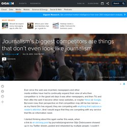 Journalism's biggest competitors are things that don't even look like journalism