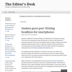 journalism education « The Editor's Desk