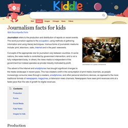 Journalism Facts for Kids