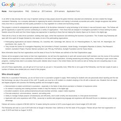 Journalism Fellowship – Google