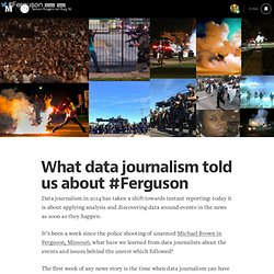 What data journalism told us about #Ferguson