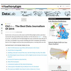 Ctrl + ← The Best Data Journalism Of 2014