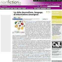 Le data journalism, langage d'information émergent