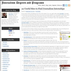 22 Useful Sites to Find Journalism Internships