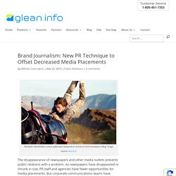 How brand journalism fills the void as media outlets dwindle