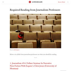 Required Reading from Journalism Professors