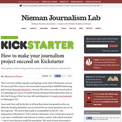 How to make your journalism project succeed on Kickstarter