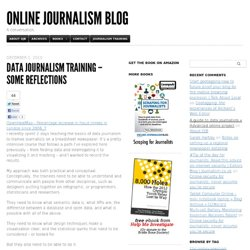 Data journalism training – some reflections