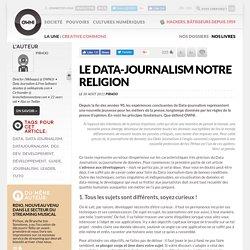 Le Datajournalisme notre religion