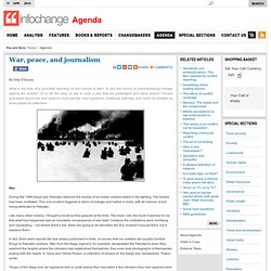 InfoChange India News & Features development news India - War, peace, and journalism