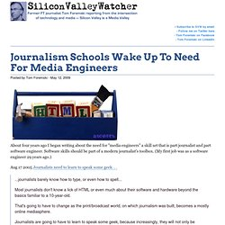 Journalism Schools Wake Up To Need For Media Engineers