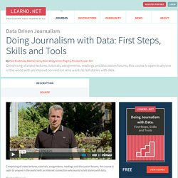 Doing Journalism with Data: First Steps, Skills and Tools - Course - LEARNO