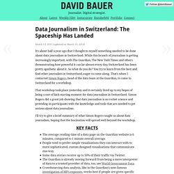 Data Journalism in Switzerland: The Spaceship Has Landed