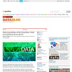 Data journalism at the Guardian: what is it and how do we do it?