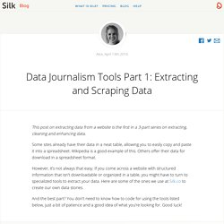 Data Journalism Tools Part 1: Extracting and... - Silk