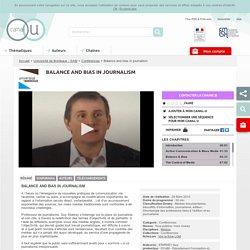 Balance and bias in journalism - Université de Bordeaux - SAM