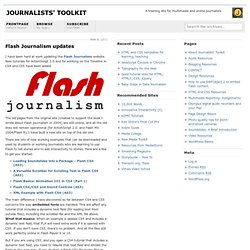 Flash Journalism updates - Journalists' Toolkit