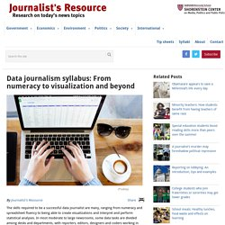 Data journalism syllabus: From numeracy to visualization and beyond - Journalist's Resource