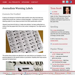 Journalism Warning Labels & Tom Scott