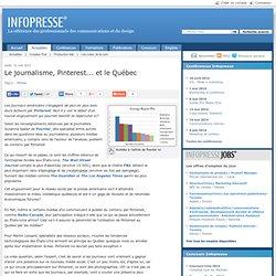 Le journalisme, Pinterest... et le Québec