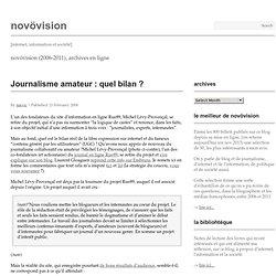 Journalisme amateur : quel bilan ?