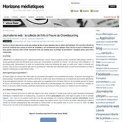 Journalisme web : la collecte de l'info à l'heure du Crowdsourcing