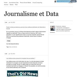 Journalisme et Data
