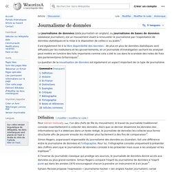 Journalisme de données