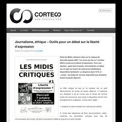 Journalisme, éthique – Outils pour un débat sur la liberté d'expression