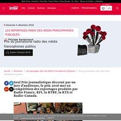 Prix du journalisme radio des média francophones publics