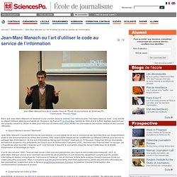 Jean-Marc Manach ou l'art d'utiliser le code au service de l'information