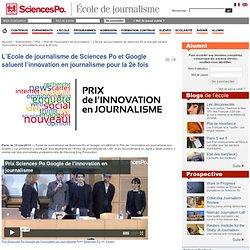 L'Ecole de journalisme de Sciences Po et Google saluent l'innovation en journalisme pour la 2è fois