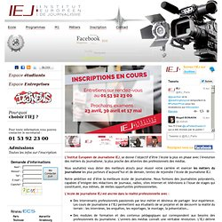 Ecole de Journalisme, IEJ Paris - INSTITUT EUROPEEN DE JOURNALISME