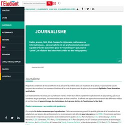Journalisme : les études qui mènent au métier de journaliste - L'Etudiant - L'Etudiant