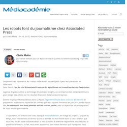Les robots font du journalisme chez Associated Press