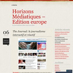 The Journal: le journalisme interactif et réactif
