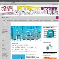 Le journalisme numérique à l'heure du copier/coller