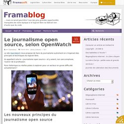 Le journalisme open source, selon OpenWatch