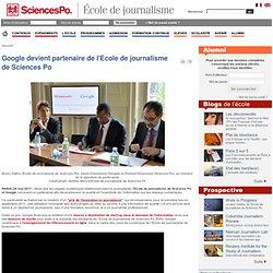 Google devient partenaire de l'Ecole de journalisme de Sciences Po
