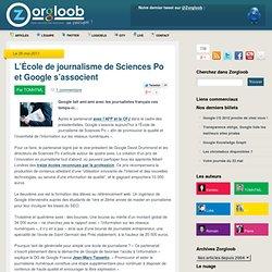 L'École de journalisme de Sciences Po et Google s'associent
