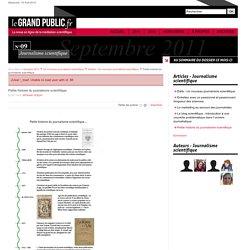 Petite histoire du journalisme scientifique
