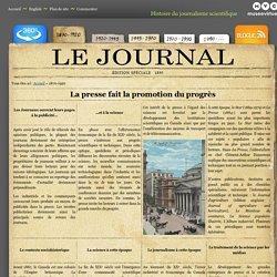 Histoire du journalisme scientifique