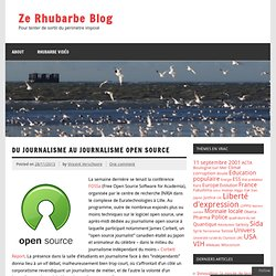 Du journalisme au journalisme open source